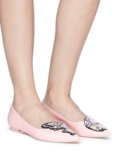 Sophia Webster 'Talulah' fairy wing appliqué patent leather flats