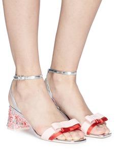 Sophia Webster 'Andie' embellished heel double bow leather sandals