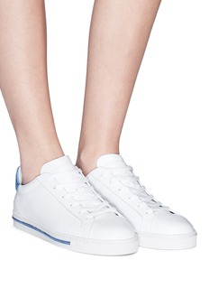 René Caovilla Strass counter leather sneakers