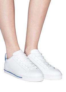 RENÉ CAOVILLA 仿水晶装饰真皮运动鞋