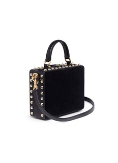 Dolce & Gabbana Heart embellished leather panel velvet box bag