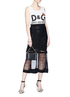 Dolce & Gabbana 'Dance and Groove' slogan print oversized tank top