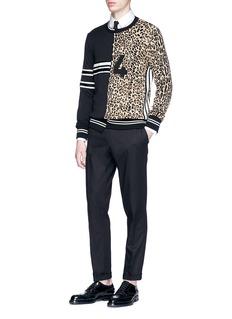 Dolce & Gabbana Logo stud collar shirt