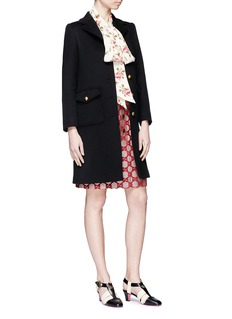Gucci GG buckled martingale wool coat
