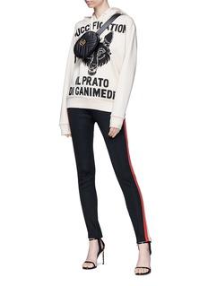 Gucci 'Il Prato di Ganimede Guccification' slogan wolf print hoodie