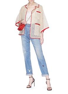Gucci Contrast border GG macramé pyjama jacket