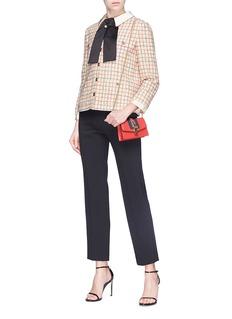 Gucci Sash bow check bouclé jacket