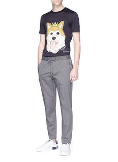 Dolce & Gabbana Cotton twill jogging pants