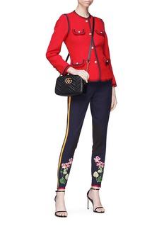 Gucci Web stripe border silk-wool cady crepe jacket