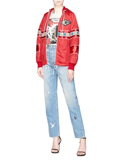 Gucci 'Magnetismo' ribbon net hooded jacket