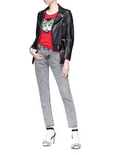 Gucci Mystic cat appliqué raglan T-shirt