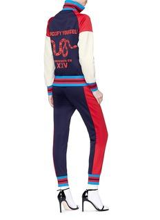 Gucci 'Guccify Yourself' slogan bow print colourblock track jacket