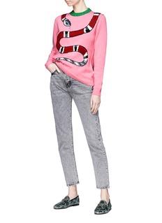 Gucci Kingsnake intarsia wool sweater