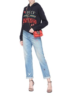 Gucci 'Spiritismo' logo slogan embellished oversized hoodie