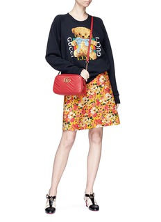 Gucci Floral print wool blend A-line skirt