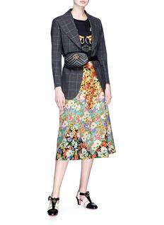 Gucci 'Wildflowers' print patchwork A-line midi skirt