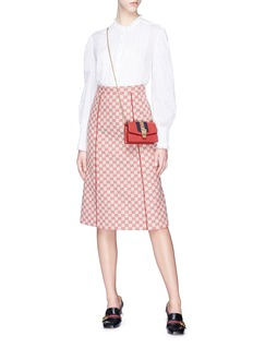 Gucci Piped GG canvas A-line skirt
