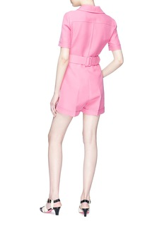 Gucci GG buckle wool-silk crepe rompers