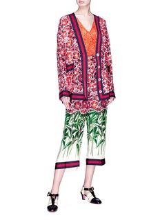 Gucci 'Poppy Garden' print silk satin pyjama culottes