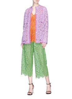Gucci Floral leaf rebrode lace culottes