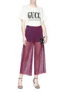 Gucci GG macramé culottes