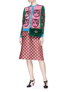 Gucci Mystic cat kingsnake intarsia colourblock sweater