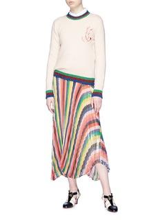 Gucci Bunny patch Web stripe border wool sweater