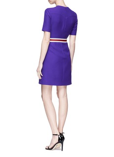 Gucci Butterfly logo belted wool-silk A-line dress