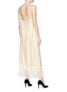 Gucci Logo lace trim silk habotai slip dress