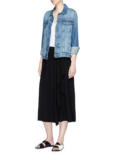 James Perse Belted drape midi skirt