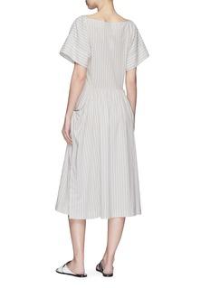 James Perse Barre stripe drape sleeve garment dyed dress