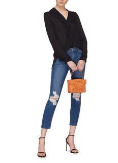 L'Agence 'Rita' drape overlapped front silk blouse