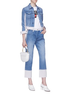 J Brand 'Harlow' colourblock shrunken denim jacket