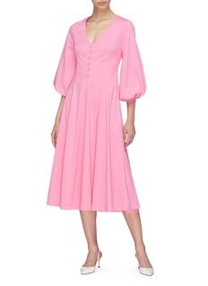 STAUD 'Veronica' lantern sleeve dress