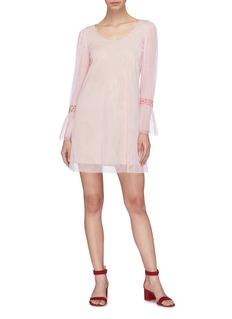 STAUD 'Taylor' beaded cuff tulle mini dress