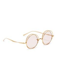 PERCY LAU x deepmoss 'Star Ring' double rim metal round sunglasses