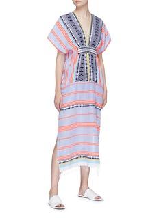 LEMLEM Sofia几何条纹卡夫坦长裙