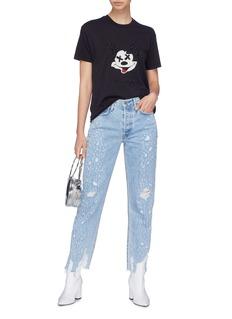 GRLFRND 'Helena' distressed jeans