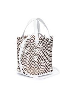 Alaïa Stud diamond lasercut mini leather bucket bag