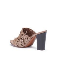 Alaïa Geometric lasercut leather mules