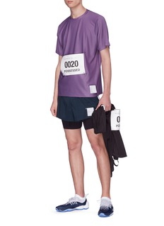 Satisfy Race bib COOLMAX® mesh performance T-shirt