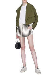 bassike Stripe drawstring shorts