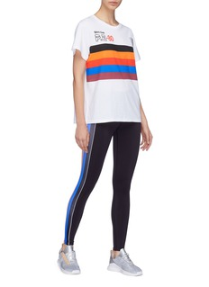 P.E Nation 'All Fired Up' stripe T-shirt