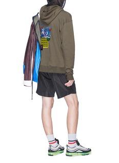 Ground Zero Dragon slogan embroidered hoodie