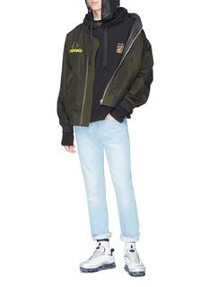 Ground Zero Mix appliqué hoodie