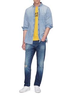 Denham 'Standard' washed denim shirt