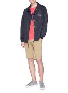 Denham 'Coach' slogan print jacket