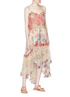 Zimmermann 'Melody' ruffle floral print organza floating dress