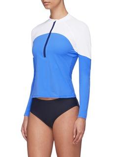 Flagpole Swim 'Paige' colourblock half zip rash-guard