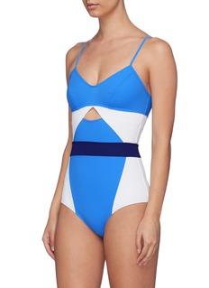 Flagpole Swim 'Joellen' cutout colourblock one-piece swimsuit
